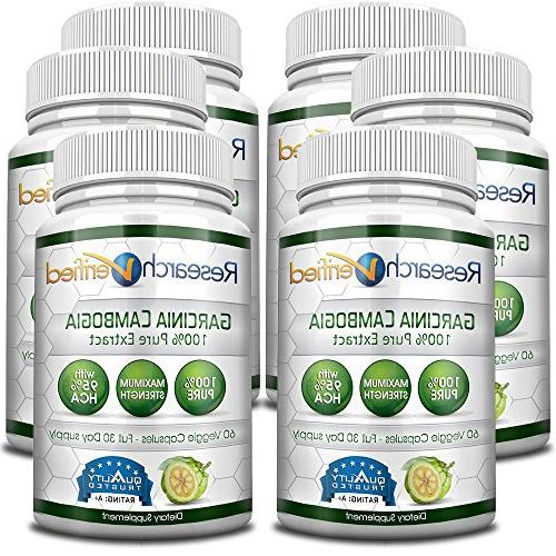 Garcinia Cambogia Extract 95% HCA by Research Verified - All Appetite Suppressant and Weight Loss Money of