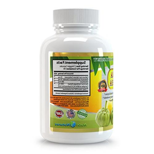 All New Garcinia Extract Pure 80% HCA, 1500mg, 180 Quality, Highest Potency, 3 Months' Best on Weight Loss Quick with Burner.