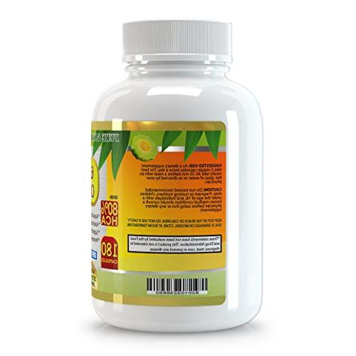 All New Extract 1500mg, 180 Capsules, Premium Months' Best on Weight Quick with Burner.