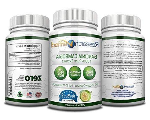 Garcinia 95% by Verified All Appetite Suppressant Loss Money Pack