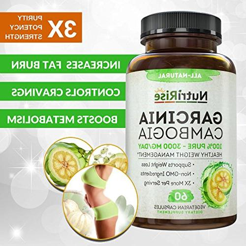 100% Pure Extract Fast Burn. Best Appetite Suppressant & Carb Blocker. Natural, Clinically Weight Garcinia Cambogia Pills.