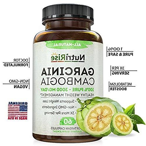 100% Pure Extract HCA Fast Appetite Suppressant Carb Blocker. Natural, Clinically Weight Supplement. Garcinia Diet Pills.