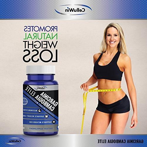 Celluwin Pure Garcinia | 100% HCA Promotes Fat Suppressed Appetite 60 Max