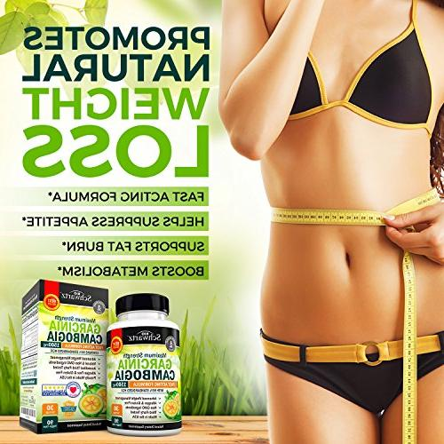Garcinia Cambogia 95% Pure Fast Acting Appetite Suppressant, Extreme & Fat Burner Weight Loss & Metabolism Best Garcinia Diet Pills
