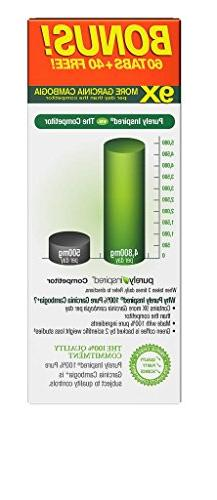 Purely Inspired Pure Garcinia Cambogia HCA, Extra Loss, count Veggie Tablets