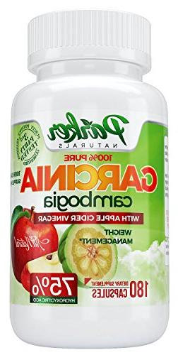 100% Garcinia Cambogia Cider Vinegar. Healthy Weight Blend. Lose Pounds Inches 180 Potent Veggie