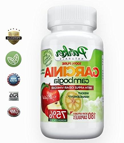 100% Garcinia Cider Vinegar. Weight Loss Blend. Lose 75% Hydroxycitric in 180 Potent