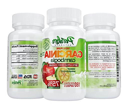 100% All Natural Garcinia Cider Weight Loss Blend. Lose Pounds & Inches 75% Acid in 180 Potent Veggie