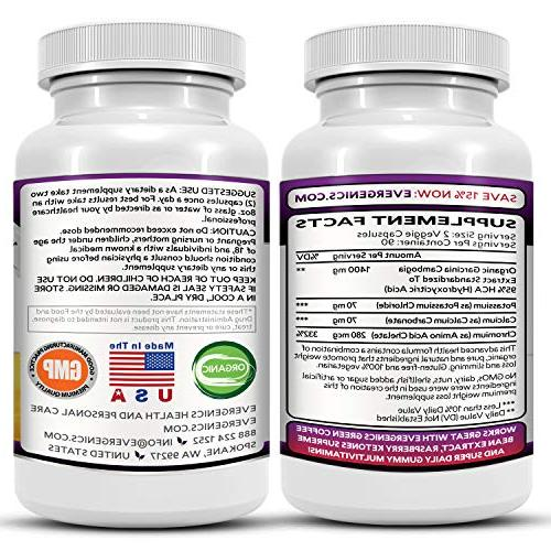 Evergenics Organic Garcinia Extract. Loss Month Supply, Ultimate Burns Fat, Boosts and