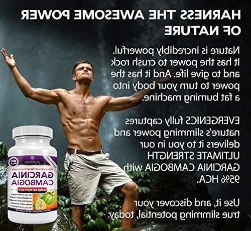 Evergenics Extract. Weight Loss for 3 Month Ultimate Strength 95% HCA Burns Fat, and