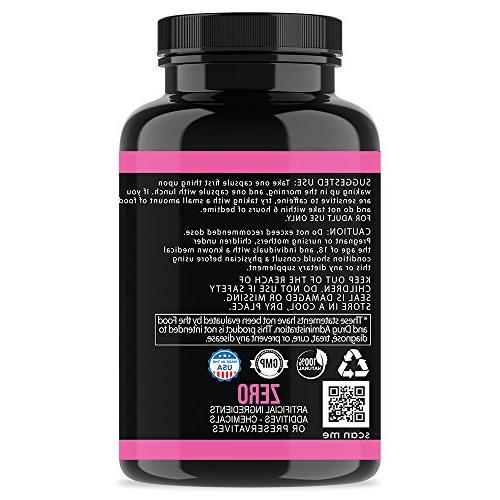 Skinny Thermogenic Diet Weight Loss Capsules Women, Fast Fat Burning, Non-GMO Appetite