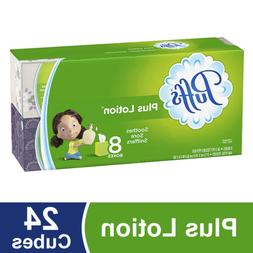 Puffs Plus Lotion Facial Tissues, 24 Cube Boxes, 56 Tissues