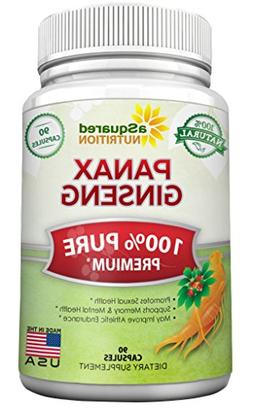 aSquared Nutrition Red Korean Panax Ginseng -1000mg - Pure R